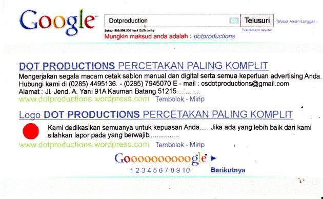 Kartu Nama Google
