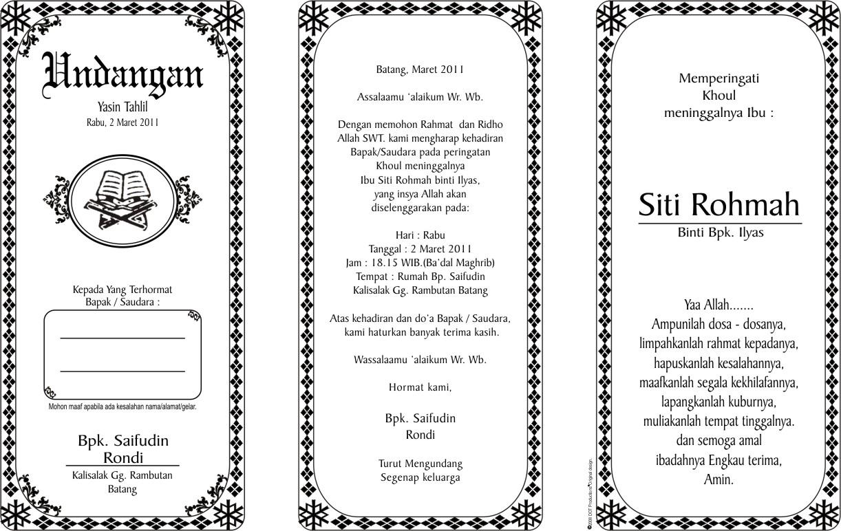 Undangan Contoh Pernikahan Desain